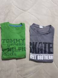 5 camisetas manga comprida tamanho 10
