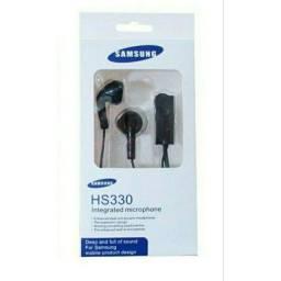 Fone de ouvido branco e preto para samsung, headset com fio e microfone, entrada de 3.5mm,