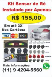 Kit Sensor de estacionamento (Ré 4 pontos) #Instalado por apenas R$155,00