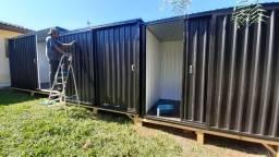 Container desmontável de escritório com banheiro externo de 5,10 x 2,45 por 2,30