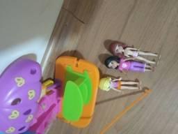 Tirolesa da Polly com 3 bonecas