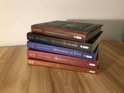 Livros Percy Jackson e os Olimpianos + Os Diários do Semideus (Capa dura)