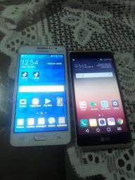 Gran prime e um Lg x style 2 celulares