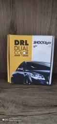 Fita de LED DRL Dual Color Universal 3000K 6000K 12V 6,8W 45cm Farol com Função Seta