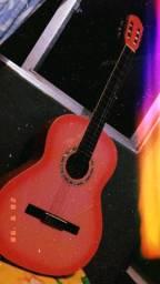Lindo violão acústico giannini rosa