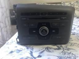 Rádio Som Original Cd Player Honda Civic 2012/2013 - P/n 39100 Ts0-M01