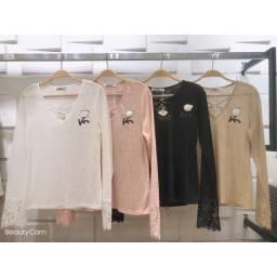 blusa de frio/suéter /tricô leve