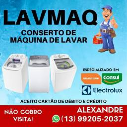 Título do anúncio: CONSERTO DE MAQUINAS DE LAVAR ROUPAS . NAO COBRAMOS VISITA
