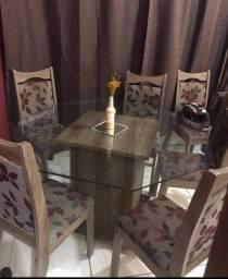 Mesa luxo 8 lugares com 6 cadeiras