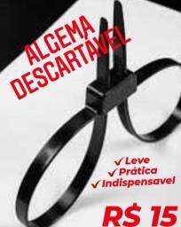 Algema Dupla Descartável em Polietileno Preta Bélica