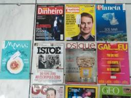 Lote Revistas Istoé GQ Galileu Psique entre outras