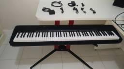 Piano Digital Casio CDP 130 (88 Teclas) + Stand Stay Piano + Todos os Cabos