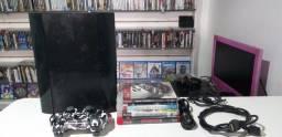 PlayStation 3 super slim 500GB funciona perfeito entrega e parcela até 12x