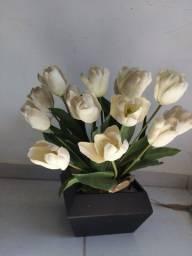 Vaso de Flor Tulipa Artificial