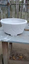 Vasos de cimento artesanal