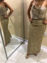 Título do anúncio: Vestido longo Dourado