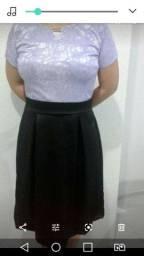 Vestido com renda lilás