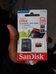 Cartão de memória Sandisk Original 256GB