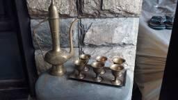 Jogo de chá indiano 1960 metal