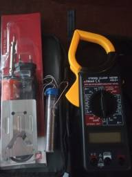 Título do anúncio: Amperímetro minipa + ferro de solda
