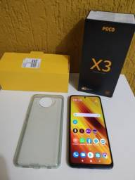 Xiaomi Poco X3, 128 gigas, 6 GB de ram .... Whatts *.
