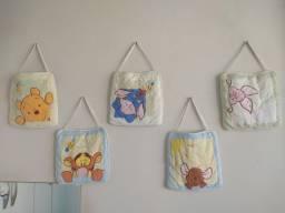 Kit de quadros infantil turma do ursinho Pooh