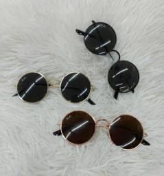 Óculos de sol unissesx redondo, polarizado. R$120,00 cada. ENTREGO
