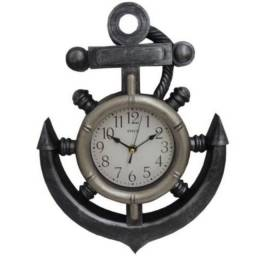 Relógio De Parede - Leme - Âncora Decorativo - Analógico