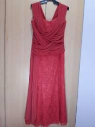 Lindo Vestido Festa Senhora Rosa M