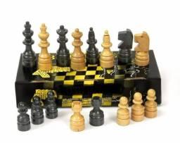 Peças Para Jogo De Xadrez Em Madeira Maciça Oficial
