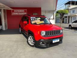 Título do anúncio: Jeep RENEGADE LONGITUDE 1.8 FLEX 2016 VERMELHO COURO