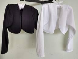 2 boleros novos branco e preto - Tam. 6