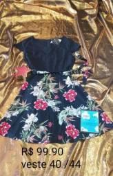 Vestido midi floral loja Rouvi Boutique