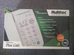 Telefone C/ Fio Plus Calculadora Com Id E Viva Voz Multitoc