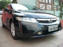 Honda Civic LXS 1.8 flex 16v câmbio automático, preto, ipva 18 pago, aceito troca - 2008