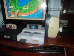 Super Nintendo branquinho com Mario world (3 mesesdegarantia)
