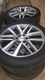 Rodas esportiva aro 22 com 4 pneus novos