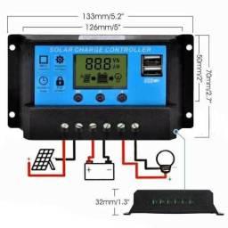 Controlador de carga 30a 12/24 energia solar fotovoltaica