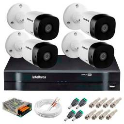 Kit cftv 4 canais HD Intelbras