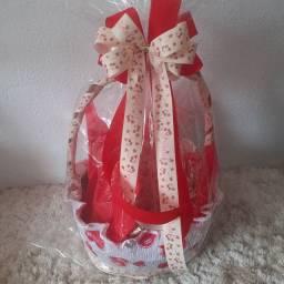 cestas decoradas p funcionários panificadoras