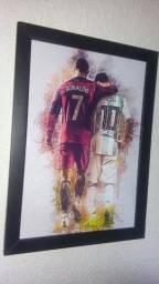 Quadro CR7 e Messi