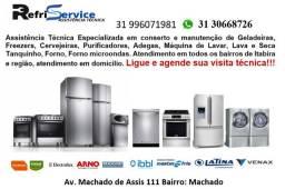 Assistência Técnica em geladeira, maquina de lavar, freezer, tanquinho e microondas
