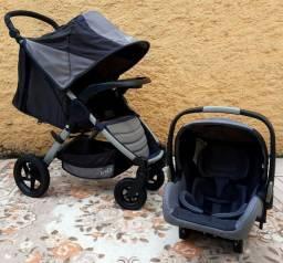 Carrinho+bebê conforto+base isofiz
