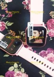 Smartwatch P8 - Personalize com Sua Foto - Película Grátis - Ac. Débito e Crédito