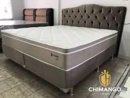 Cama Cama Box + Colchao Montreal Chimango Super King Melhor Preço Confira