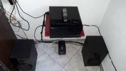 Micro system samsung MAX G85TD/XAZ com 2 cxas acústicas
