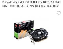 Gtx 1050 ti oc / troco por rx 580 8gb volto $$