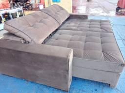 Sofa retratil/reclinavel bergamo/ 2.50 de larg/ veludo fino/ 2.299R$