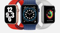 Apple watch série 6 44mm novo lacrado 1 ano de garantia apple