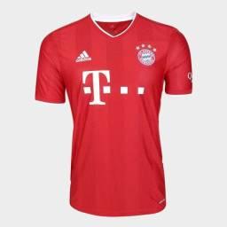 Torro Camisa Bayern de Munique I 20/21 - Torcedor Adidas Masculino - Vermelho